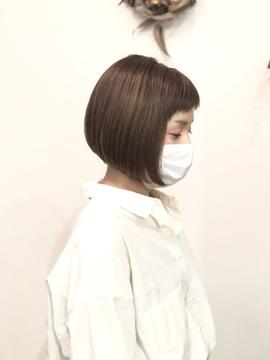 マスクとミニボブの相性♡